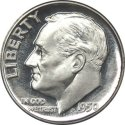 Silver Dime Front View