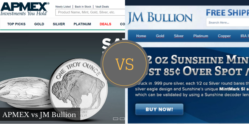APMEX vs JM Bullion