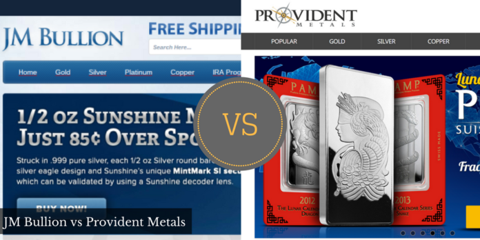 JM Bullion vs Provident Metals