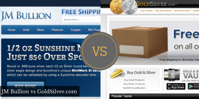 JMbullion vs GoldSilver