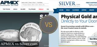 APMEX vs Silver.com Comparison